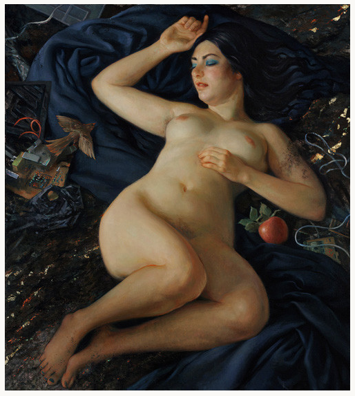 """Patricia Watwood, """"Venus Awakes"""", oil on canvas, 38x34 inches, 2011"""
