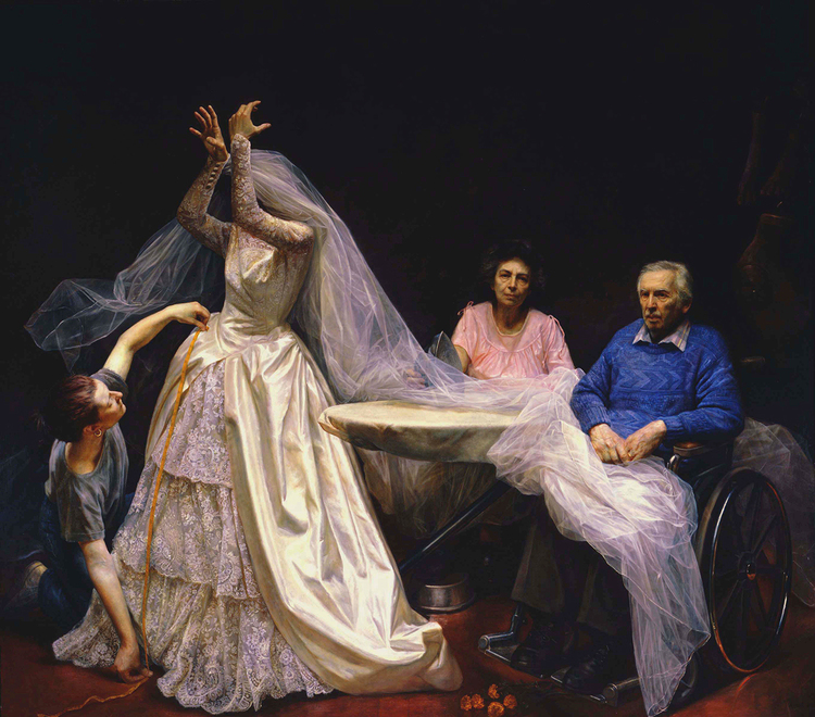 Preparation of the Bride, 1994, oil on canvas, 96 x 108 inches