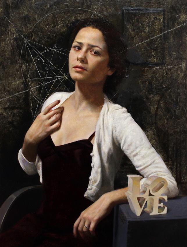 Amore. 29 X 22 in, oil on linen