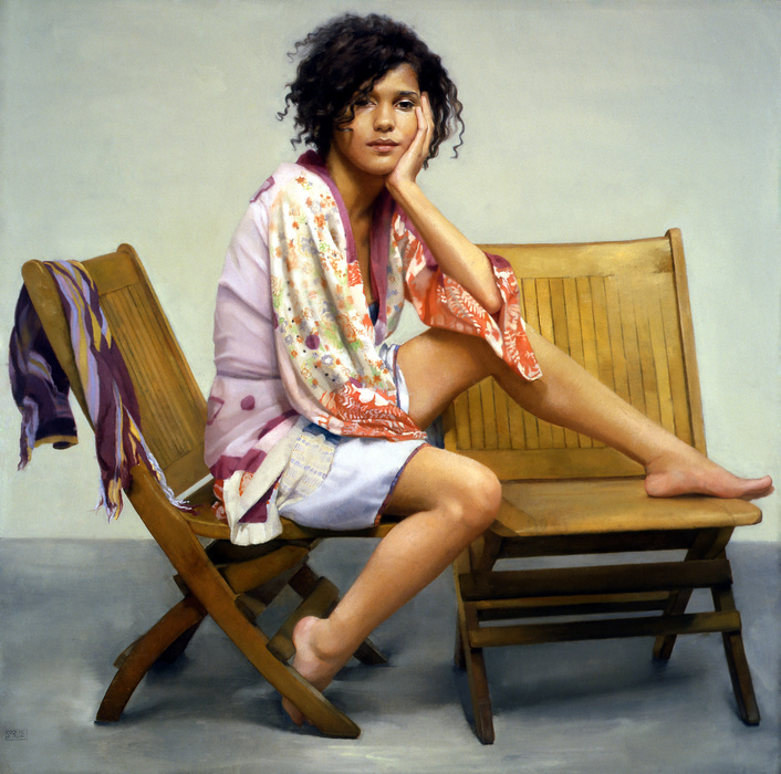 """Zeli"", Oil on Panel, 36 x 36"