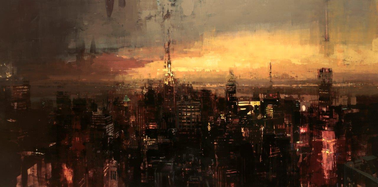 Empire - 42 x 84 inches - Oil on Panel