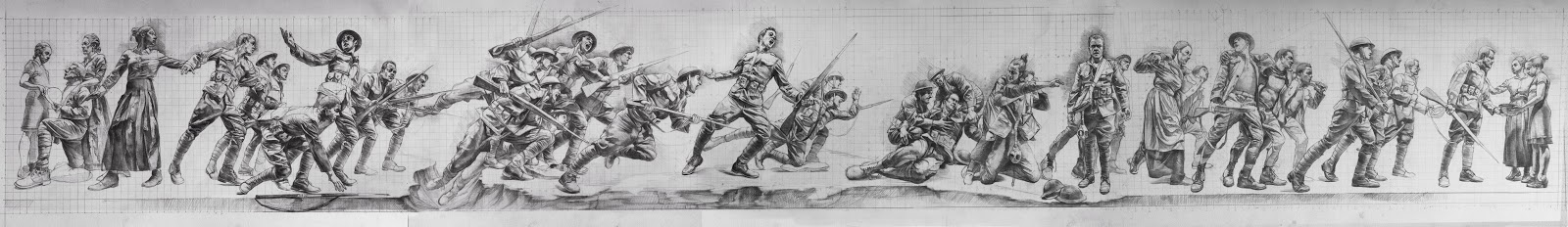 concept drawing for WW1 Memorial Commission