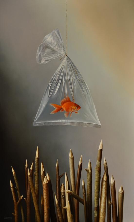"""Fish Sticks II"" 30 x 18 inches"