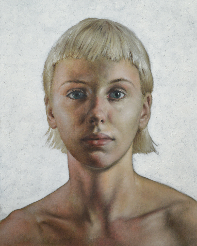 "Large Portrait of Manou , oil on canvas, 30""x24"", 2017"