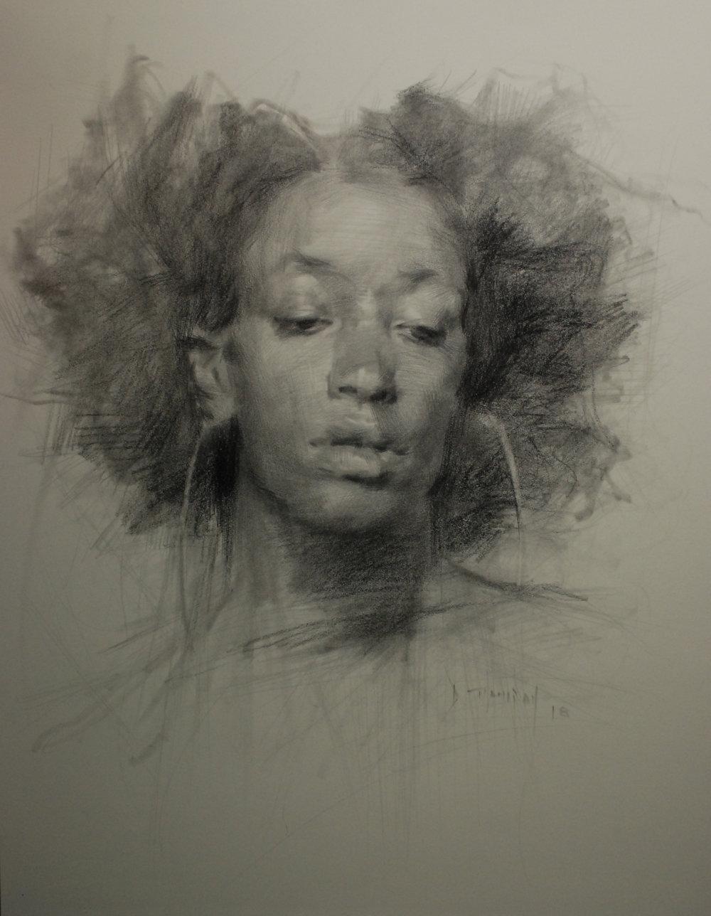 Heff, 18x24, graphite, 2018