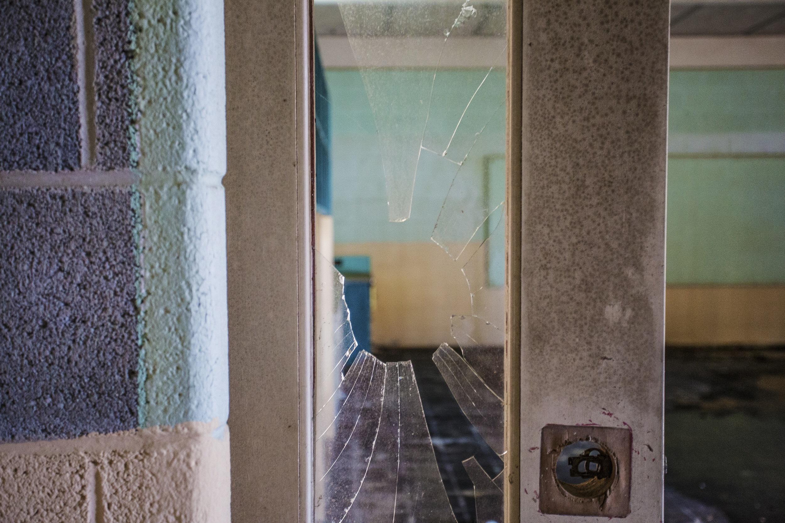 Door to a classroom