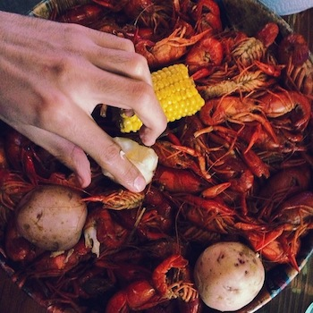 Some of the best seafood I've ever tasted. Above: crawfish. I ate 5 pounds of them.