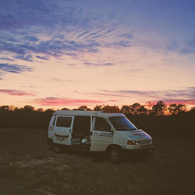 Ground crew vehicle and our home on 4 wheels for 50 + days. We love this van! Here she is, standing proud as the sun sets on the last flight of the adventure. Now I get to drive back to her home in California, my dad and a van full of stories in tow. HUGE thank you to the good people at @gowestycampers for hooking us up and entrusting their baby to our hands. We could not have made this happen without them. . . . . #GoWesty #westylife #VW #van #love #somuchlove #eurovan #camper #airport #adventure #sunset #vsco #vscocam