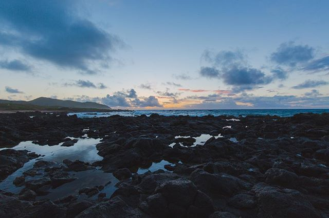 "1/3 - ""Rocks, Water, and Clouds"" - Oahu, Hawaii, 2016"
