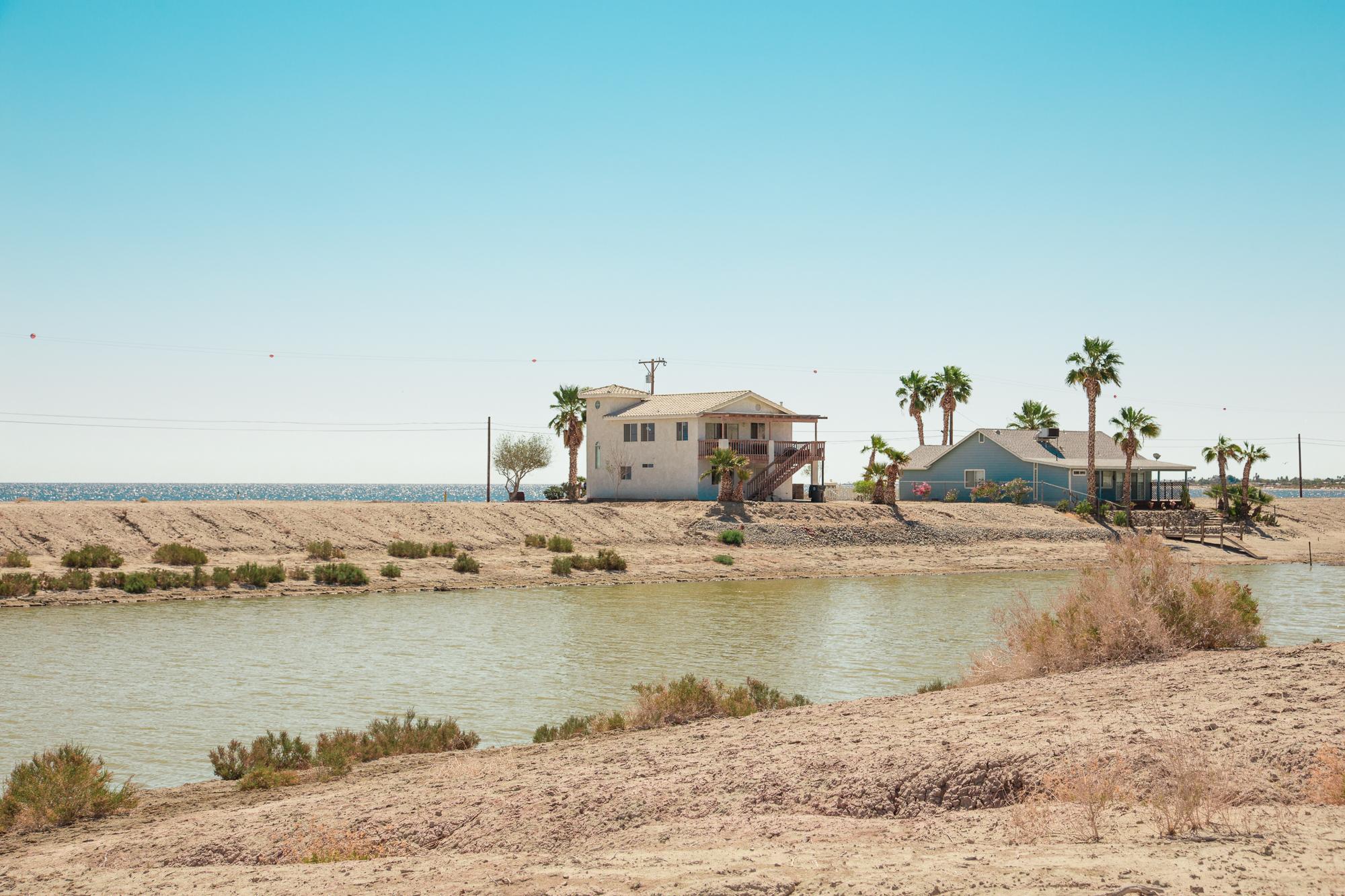 Houses along Desert Shores - The Salton Sea, CA