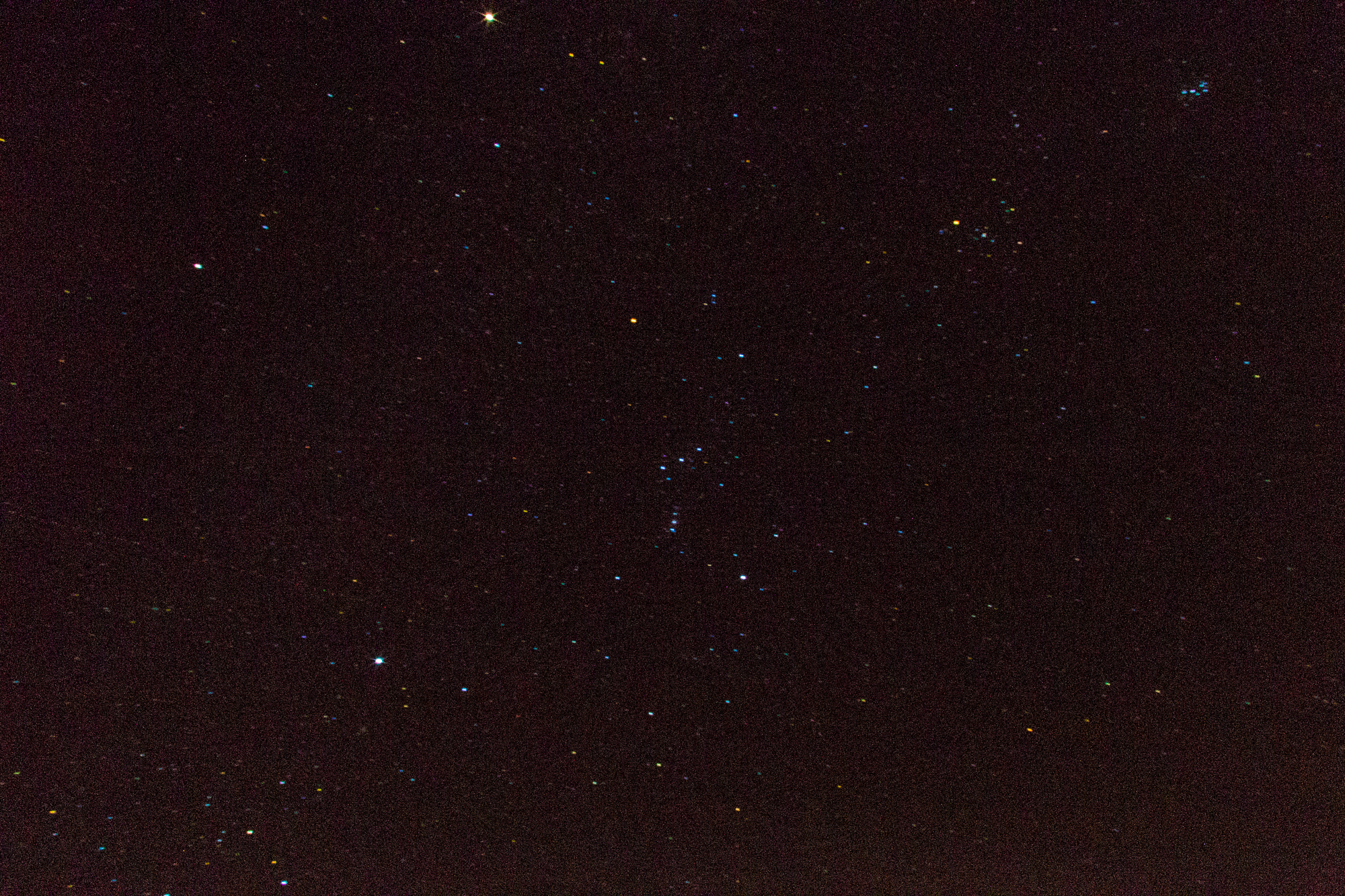 Orion as seen from the desert