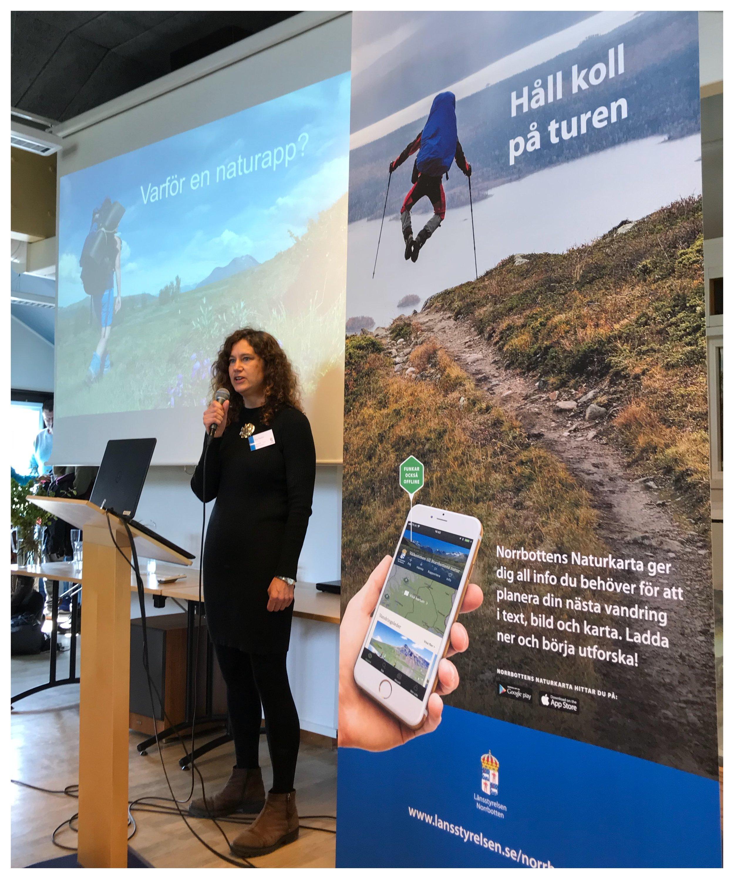 Åsa Redin, naturkommunikatör och projektledare för Länsstyrelsens naturkarta