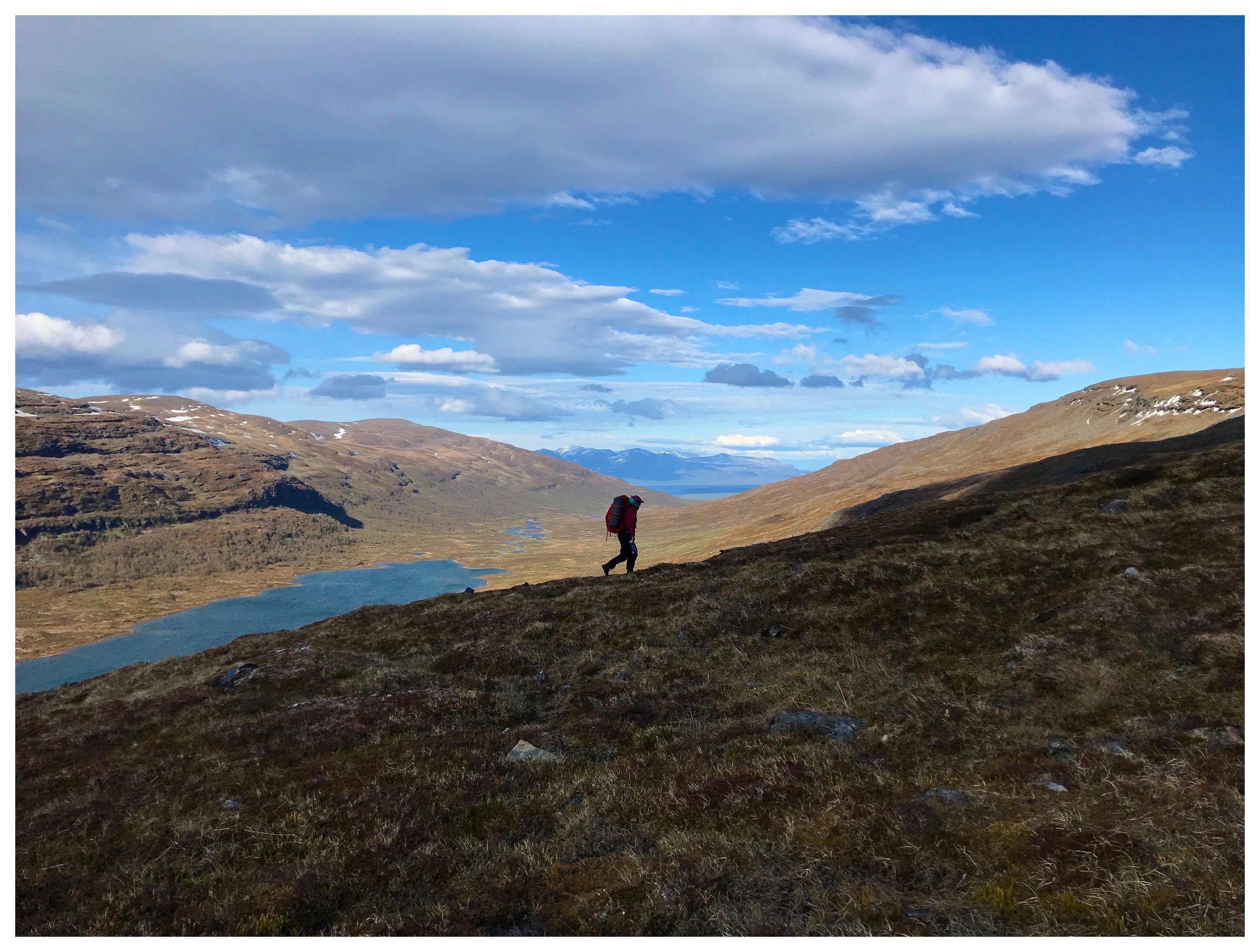 Vandringen mellan Kårsavaggedalen och Abiskojaurestugorna blev en minnesvärd upplevelse.
