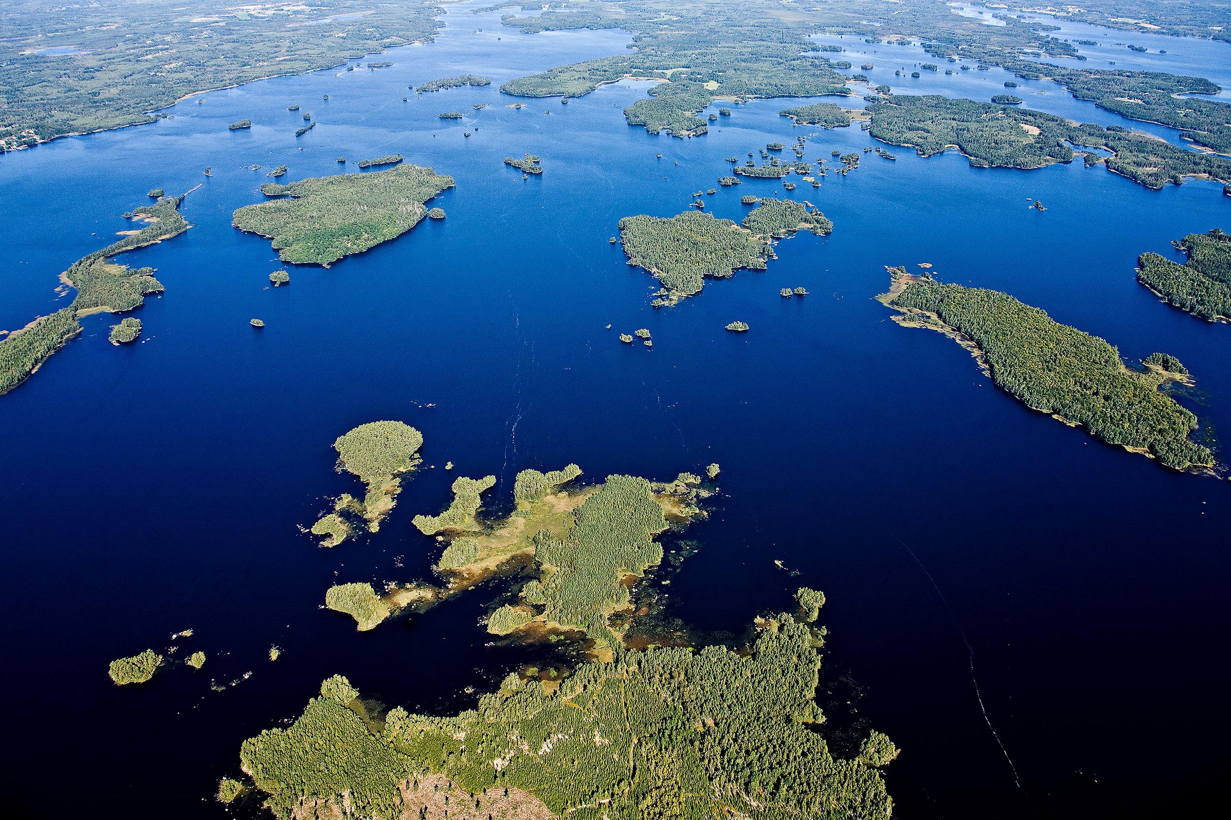 Åsnens nationalpark - 75% vatten