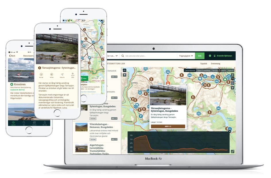 Mapbox gav bättre prestanda. Karttjänsten harmoniserar betydligt bättre med såväl listan som filtret av platser, områden och leder, vilket har förbättrat användarupplevelsen markant, speciellt när webbtjänsten används i mobilen.