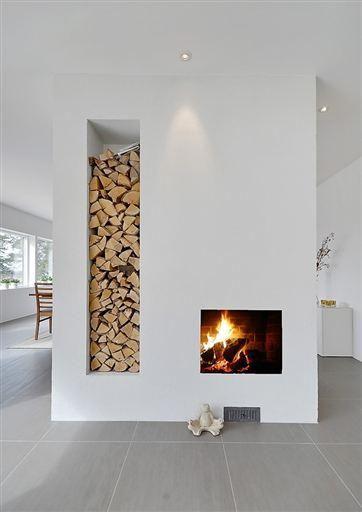 Scandinavian fireplace