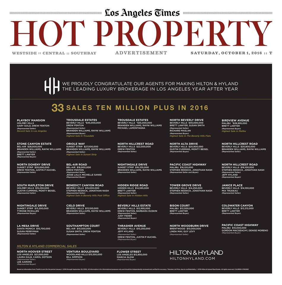 Hot Property Hilton & Hyland real estate los angeles