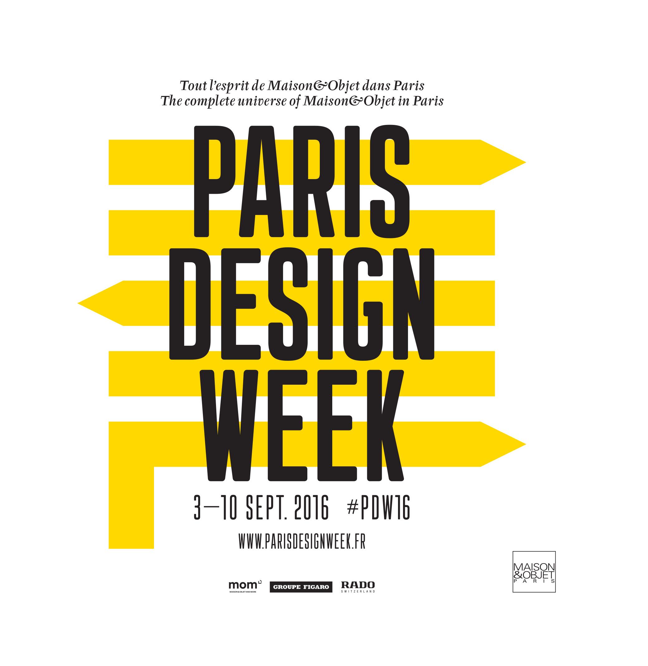 #pdw2016 logo Paris Design Week