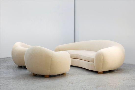 Jean Royère, Polar Bear Chair and Sofa.jpg