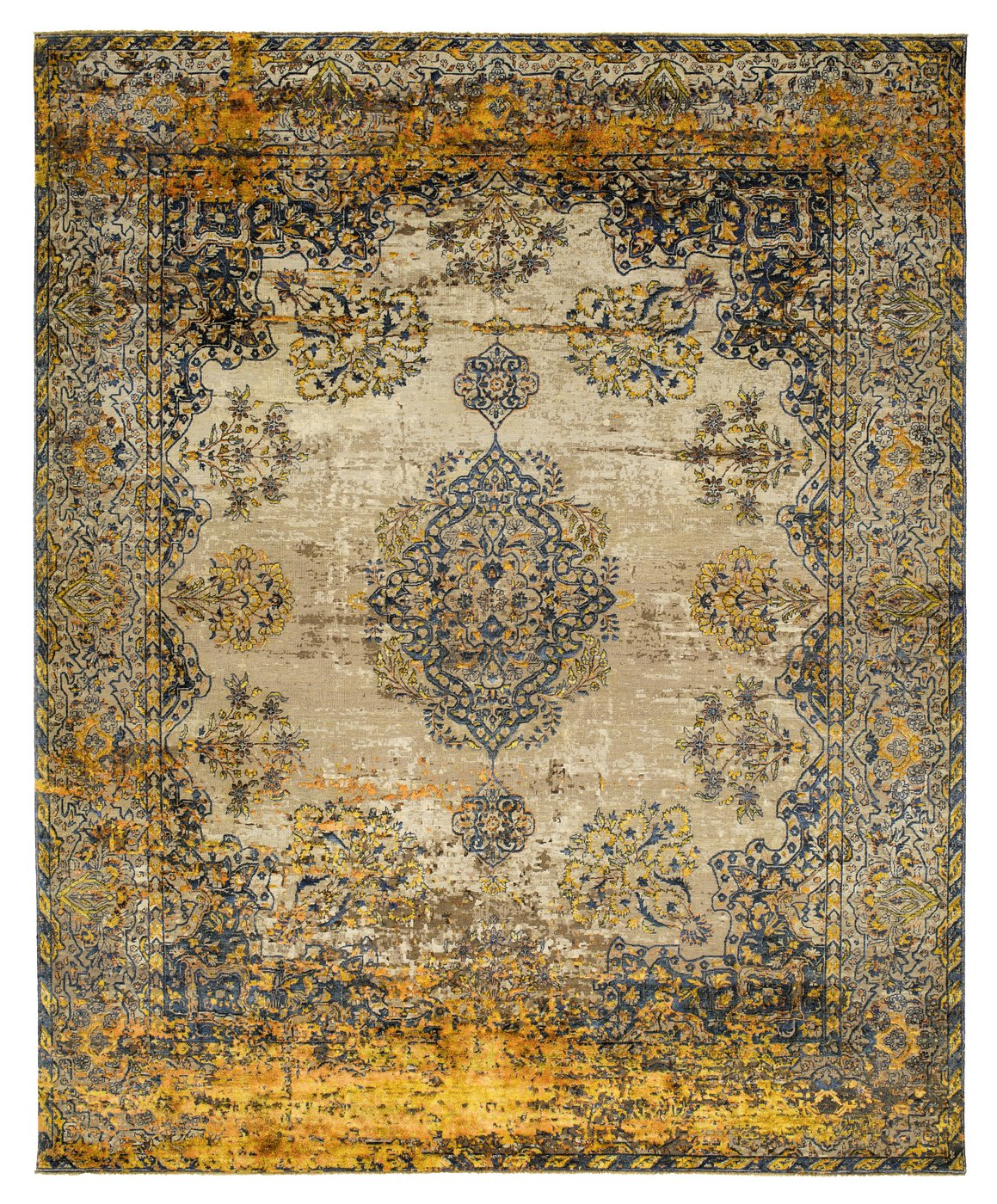 Visit Galerie SORS to view the new KIRMAN ROBSON ARTWORK 19 rug and discover the infinite possibilities of a rug by Jan Kath.