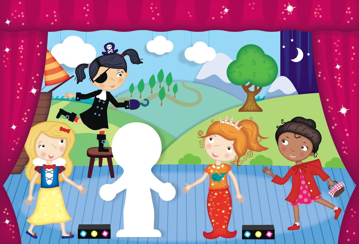 School Play Illustration
