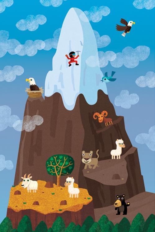 Mountain Illustration, Ian Cunliffe