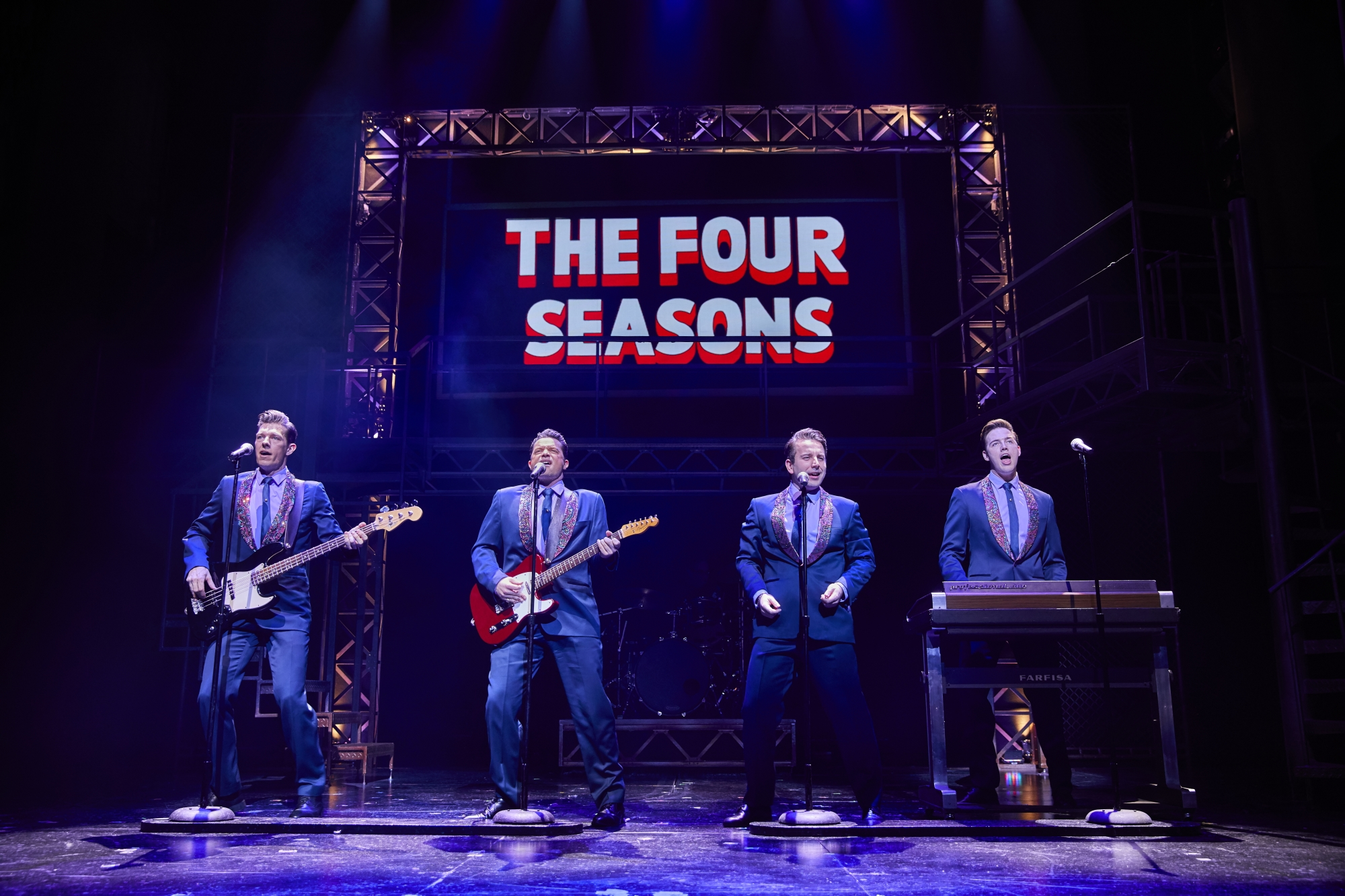L to R Lewis Griffiths, Simon Bailey, Michael Watson & Declan Egan in JERSEY BOYS. Brinkhoff & M+Âgenburg.jpg