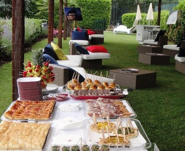 #Buffet in giardino