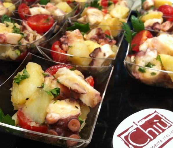 #insalata di polipo e patate a bicchiere