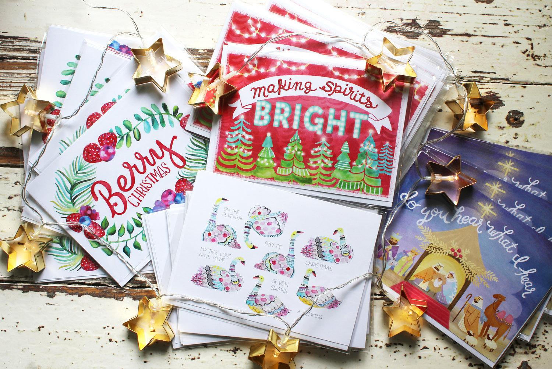 Etsy Christmas Cards.Berry Christmas Card Alyssa Bermudez