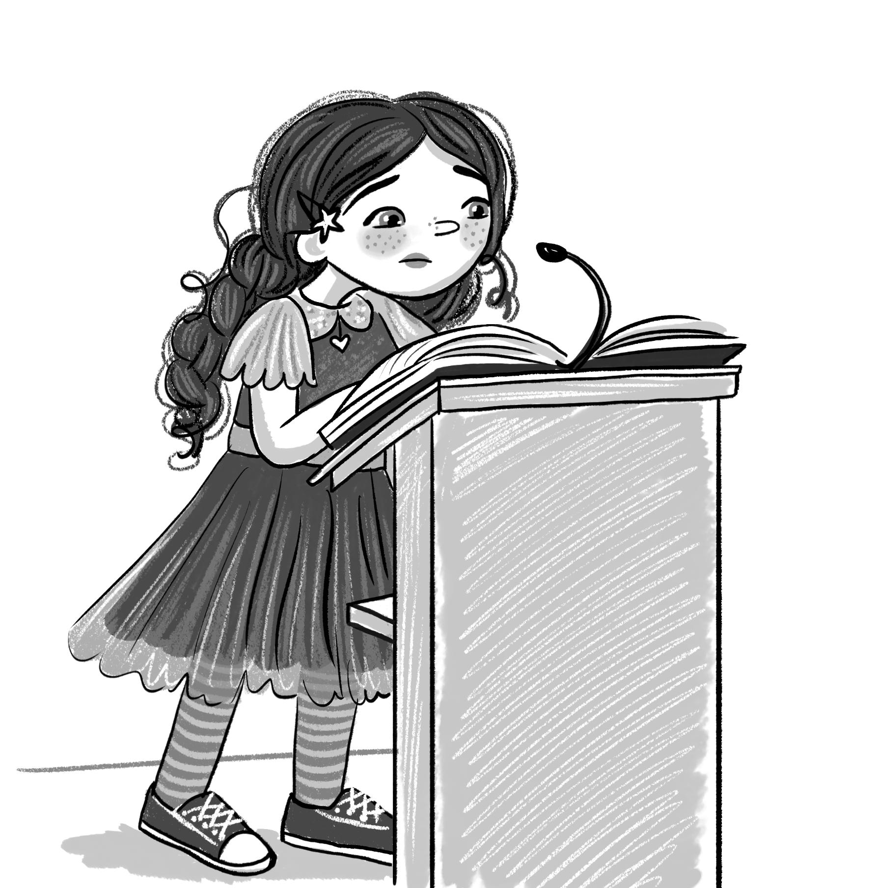 amelia chamelia and the school play illustration