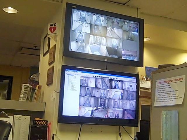 CCTV camera feed, YMCA