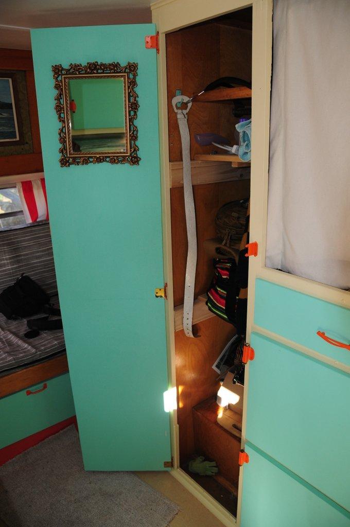 My new, very modest, closet.
