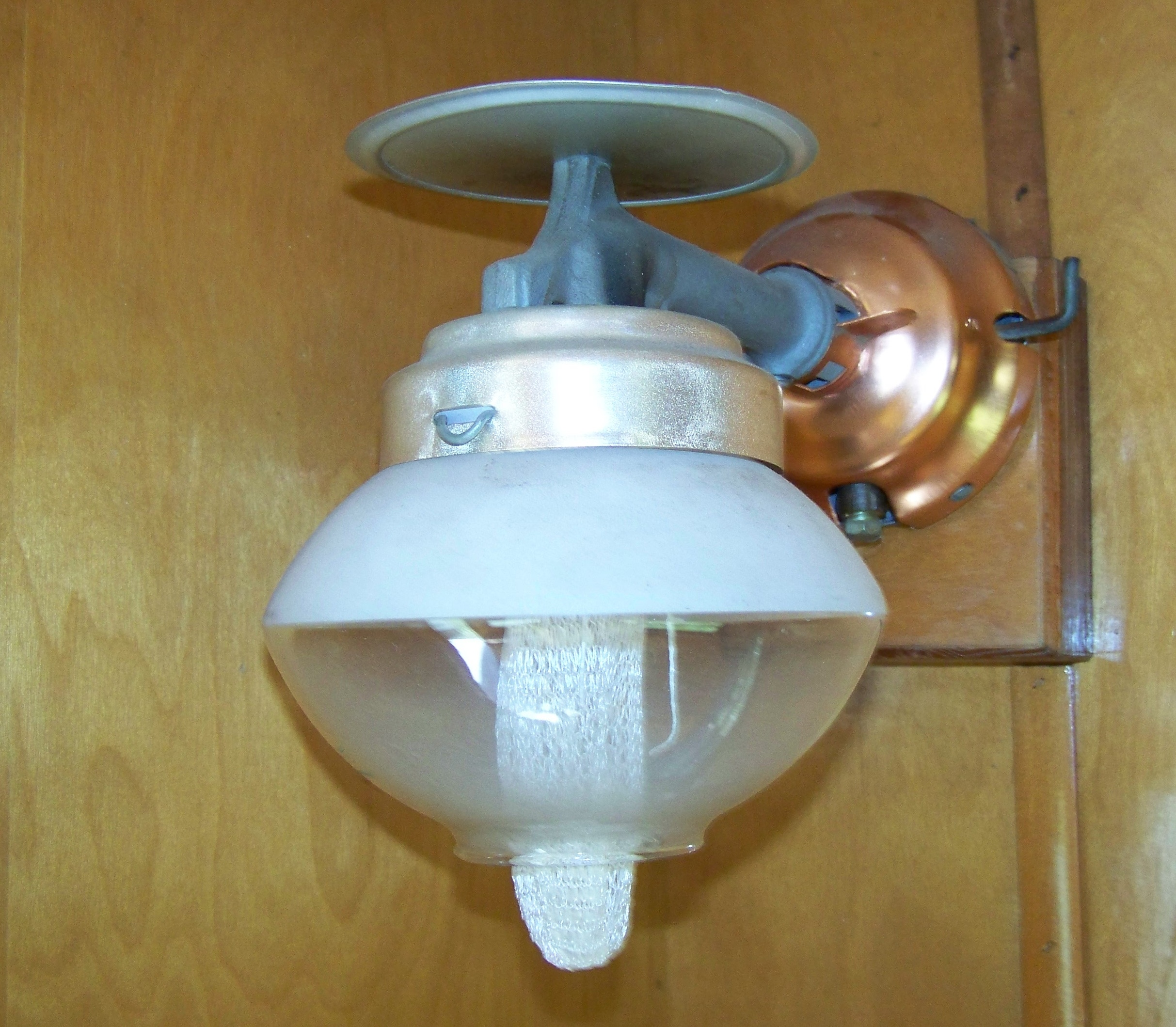Original gas lamp in the Avalon (before it was The COMET)