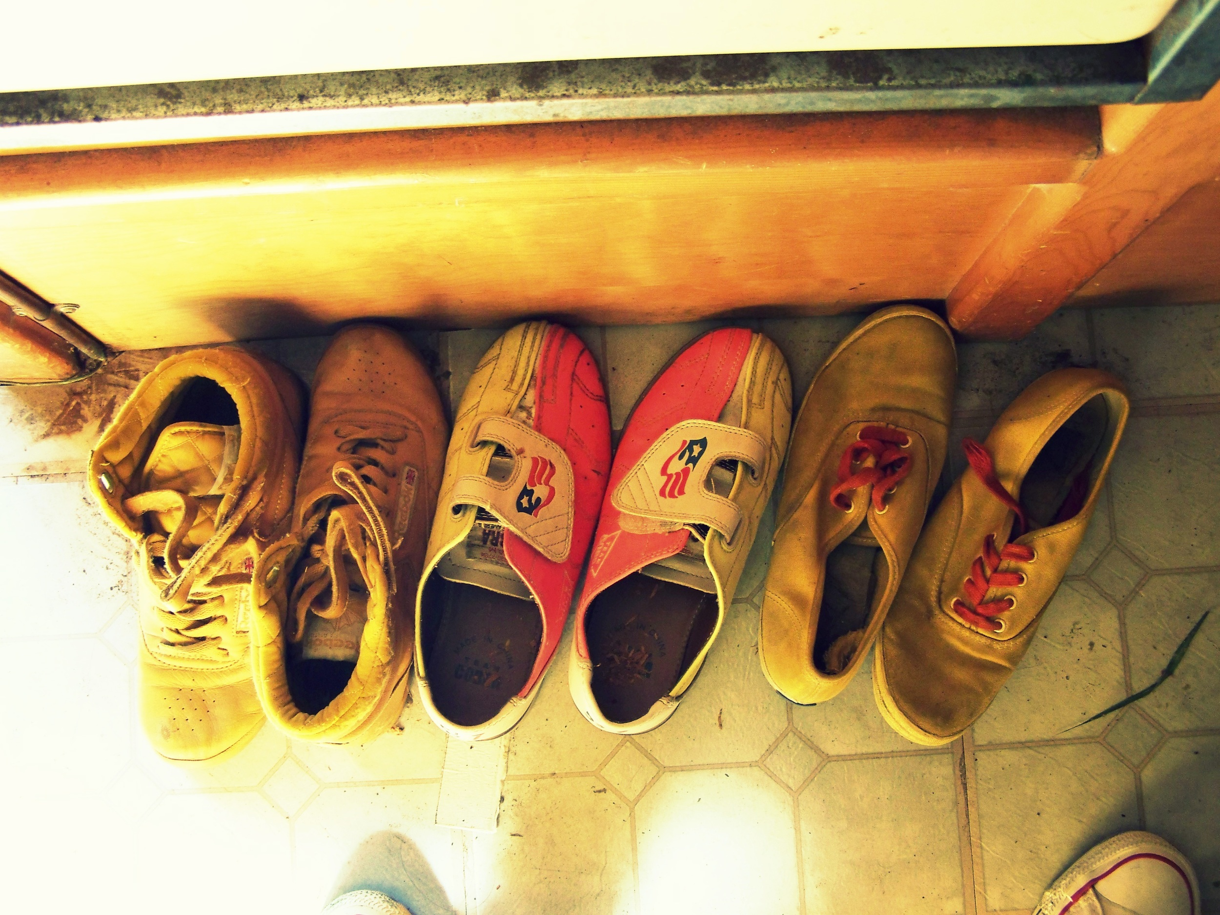 Some of the vintage shoes that I found in the Avalon when she was delivered to me - in my size none the less!