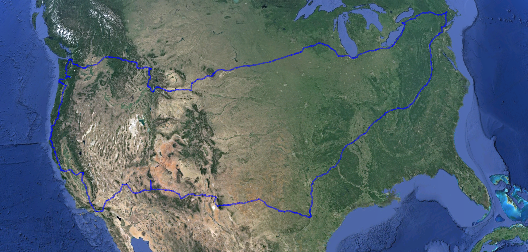 A very tentative Tiny House Road Trip Part 2 map outline!