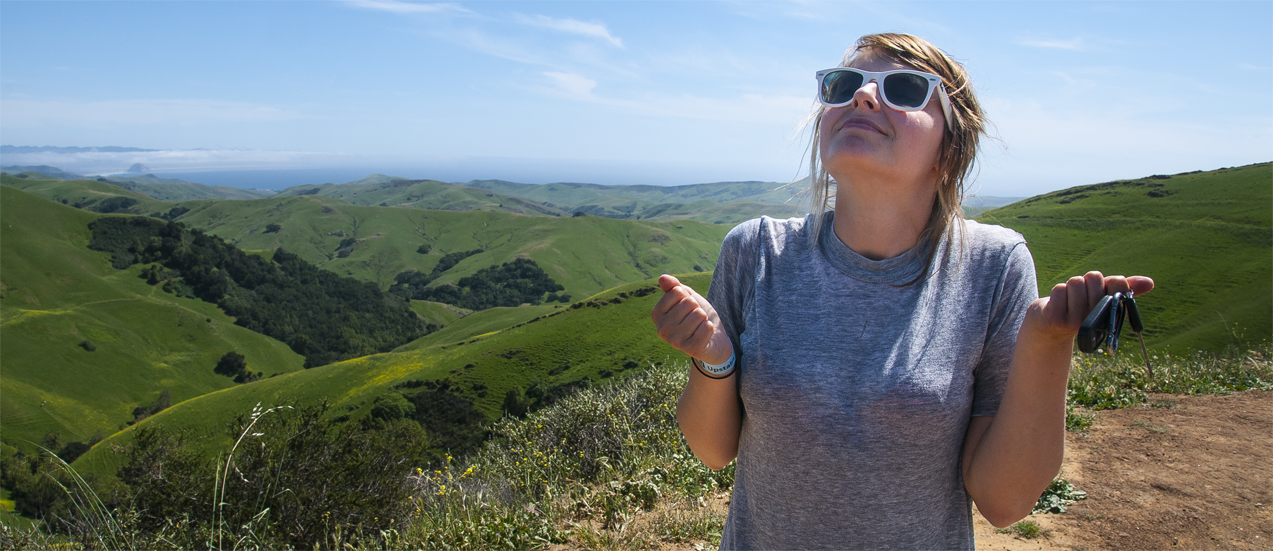 That moment when you've made it to the California coast, having driven more than 4,000 miles, the air is thick with the scent of wild sage and lavender, and everything is just so beautiful and awesome and perfect that you can't even handle it.