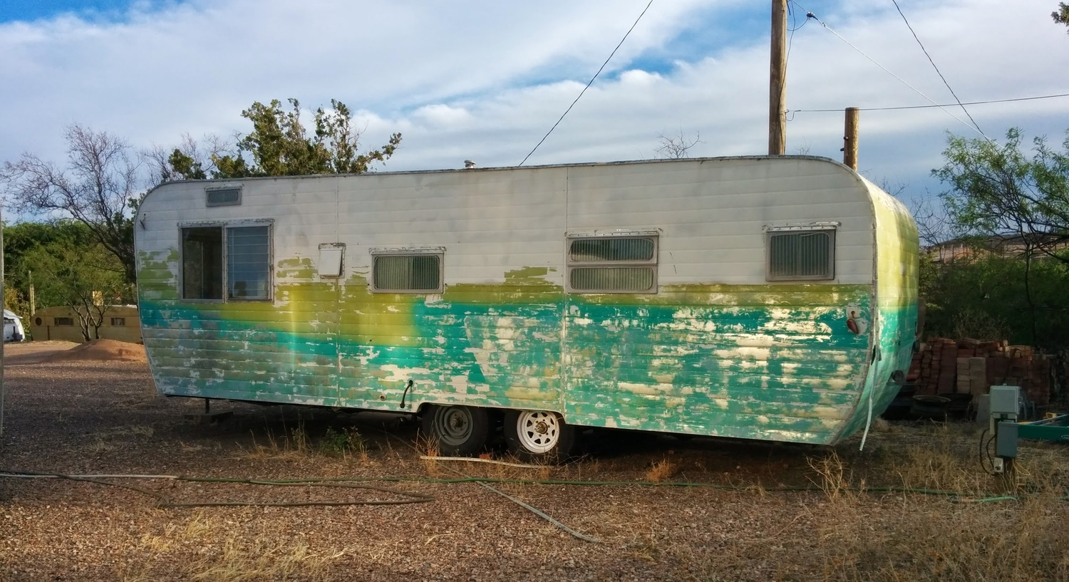 If you can find a cheap, older trailer to harvest parts from, you can save a ton of money on appliances, fixtures and more.