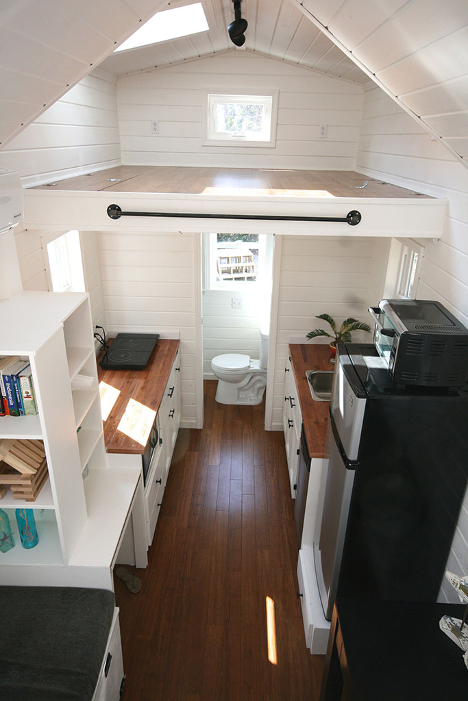 "PHOTO CREDIT: GRAHAM WALES, ""INAUGURAL"" TINY HOME. Jennifer showed her builder these photos to explain what she wanted to interior to look and feel like on the interior."