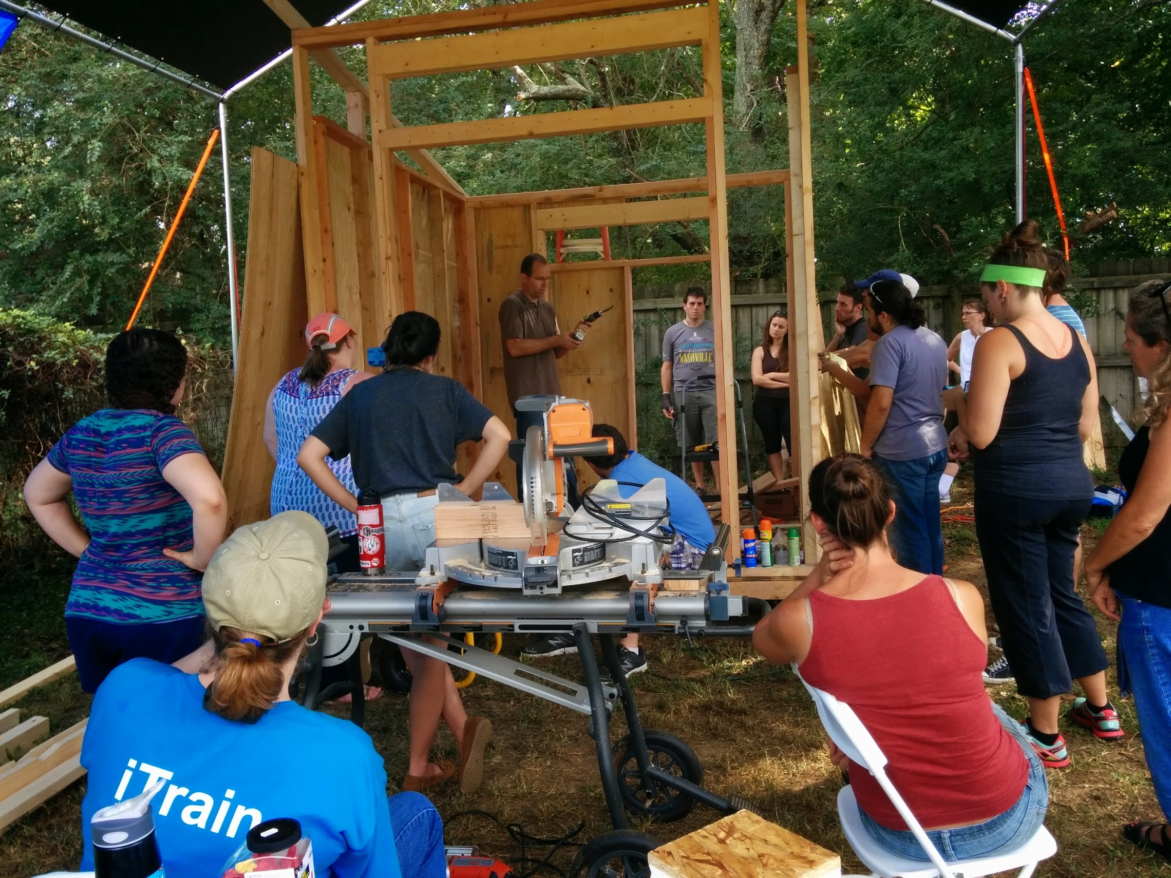 Student becomes the teacher! After attending Tiny House Workshops, I started being asked to teach them. This one above I actually co-taught with Dan Louche (Tiny Home Builders).