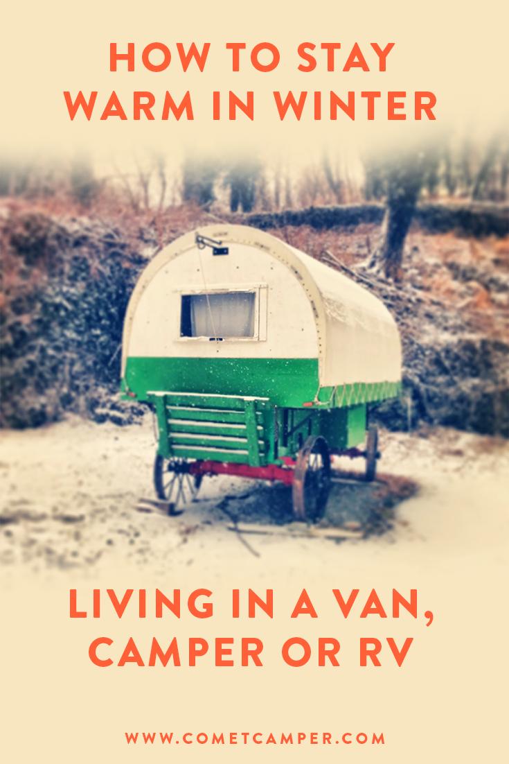 winter in trailer van or rv