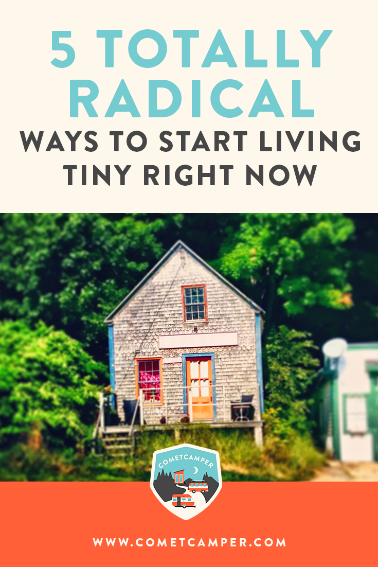 Radical ways to start living a minimalist lifestyle right now. You don't have to live in a tiny house to live tiny! Check out changes you can make today.