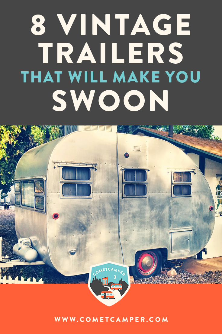 Vintage camper inspiration! Check out these 8 vintage campers and how the owners have fit them to their own specific needs and personality to live a minimalism lifestyle.