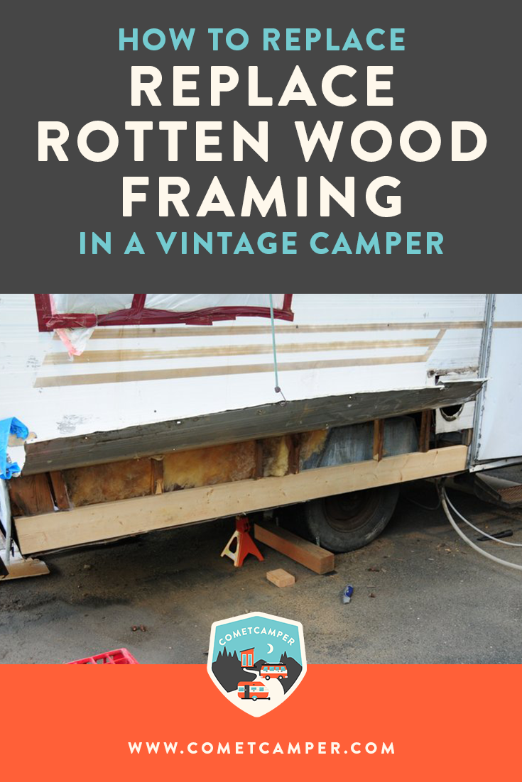 Do you need to fix rotten framing in your vintage camper? It's the worst! Here's the step by step process on how to replace rotten wood framing!