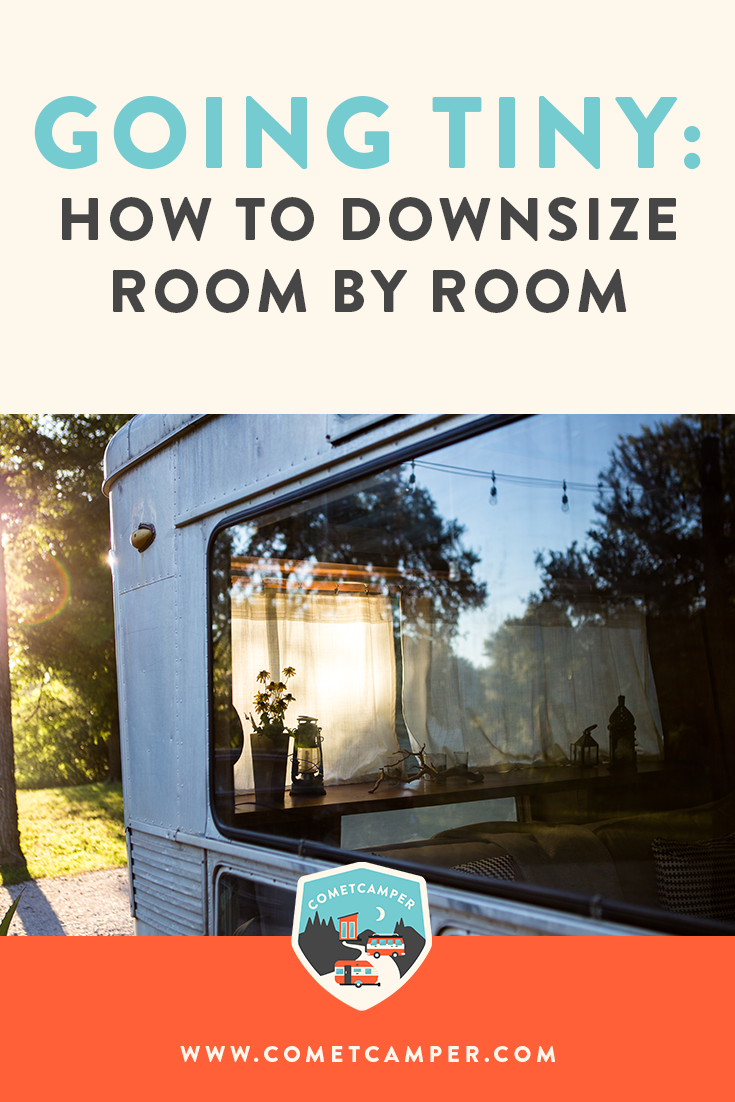 Tips for living minimally. Here's how you can start downsizing your home room by room in a methodical way without being overwhelmed!