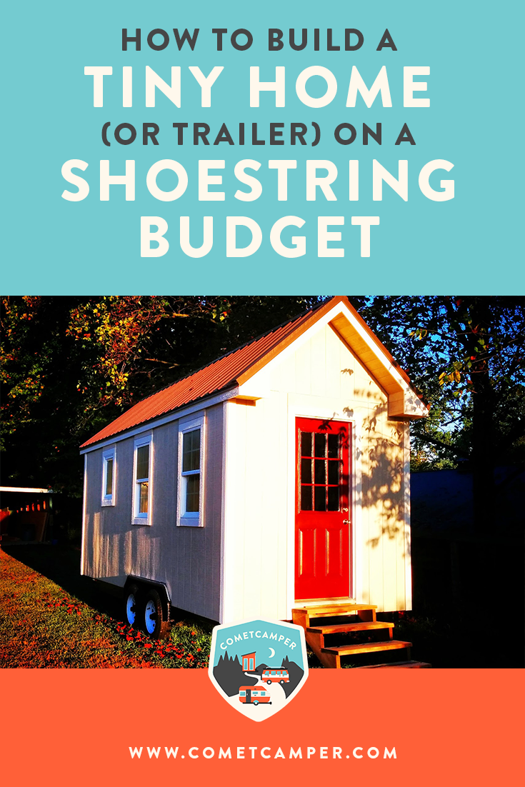 How much does it cost to build a tiny house? This guide will show you that it doesn't have to cost a fortune! Here's how to build a tiny house or trailer on a shoestring budget.
