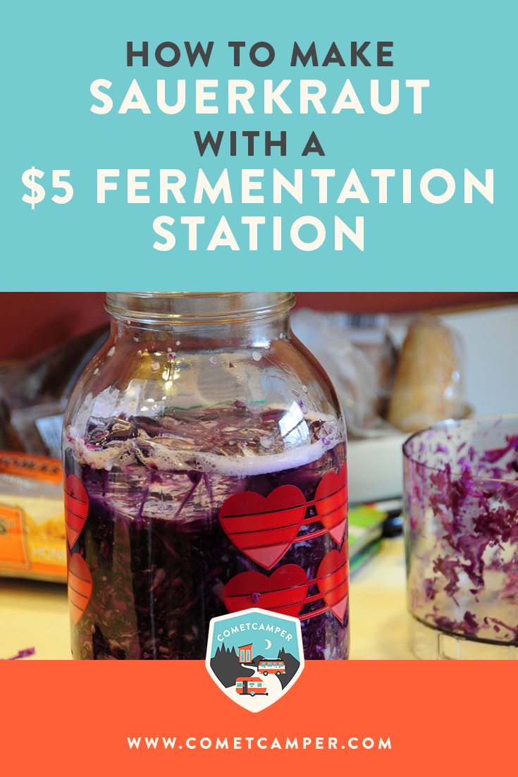 Want to learn how to ferment your own food? Here's exactly how to make sauerkraut using an inexpensive fermentation station!