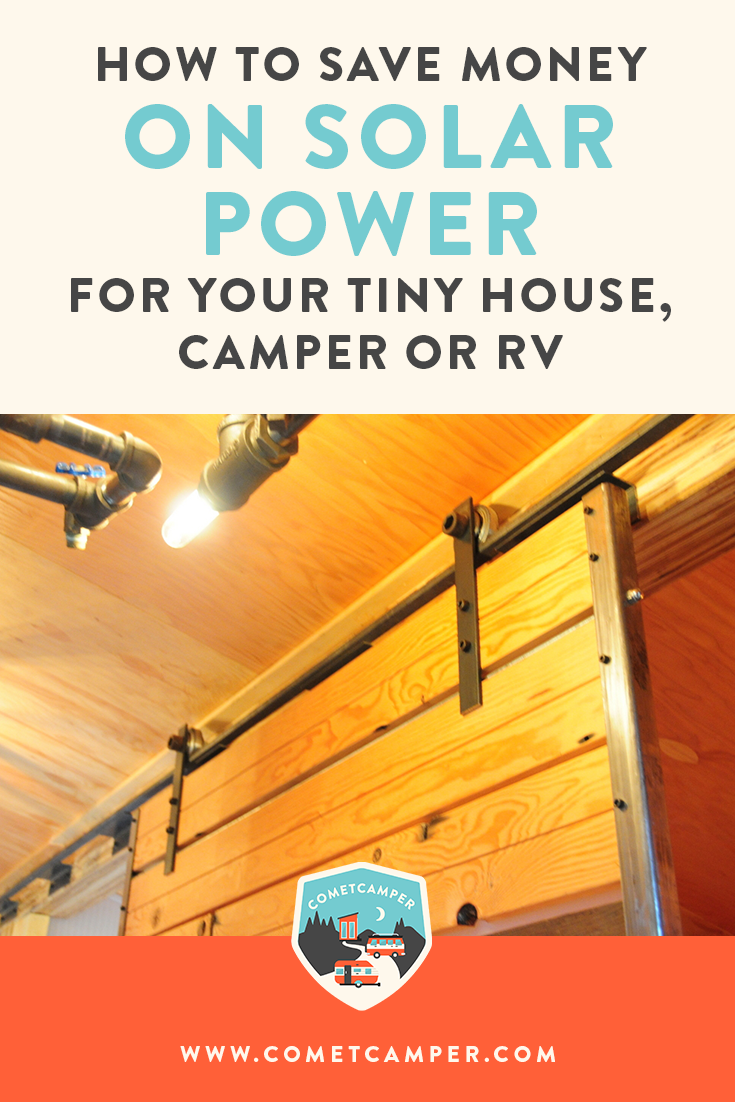 Start saving money on your solar power for your tiny house! Solar power doesn't have to be expensive, so catch these tips so you can start saving.