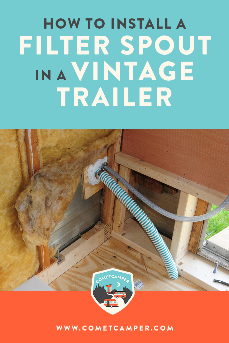 Get your vintage trailer move in ready! Here's how to install a fill spout in your vintage trailer.