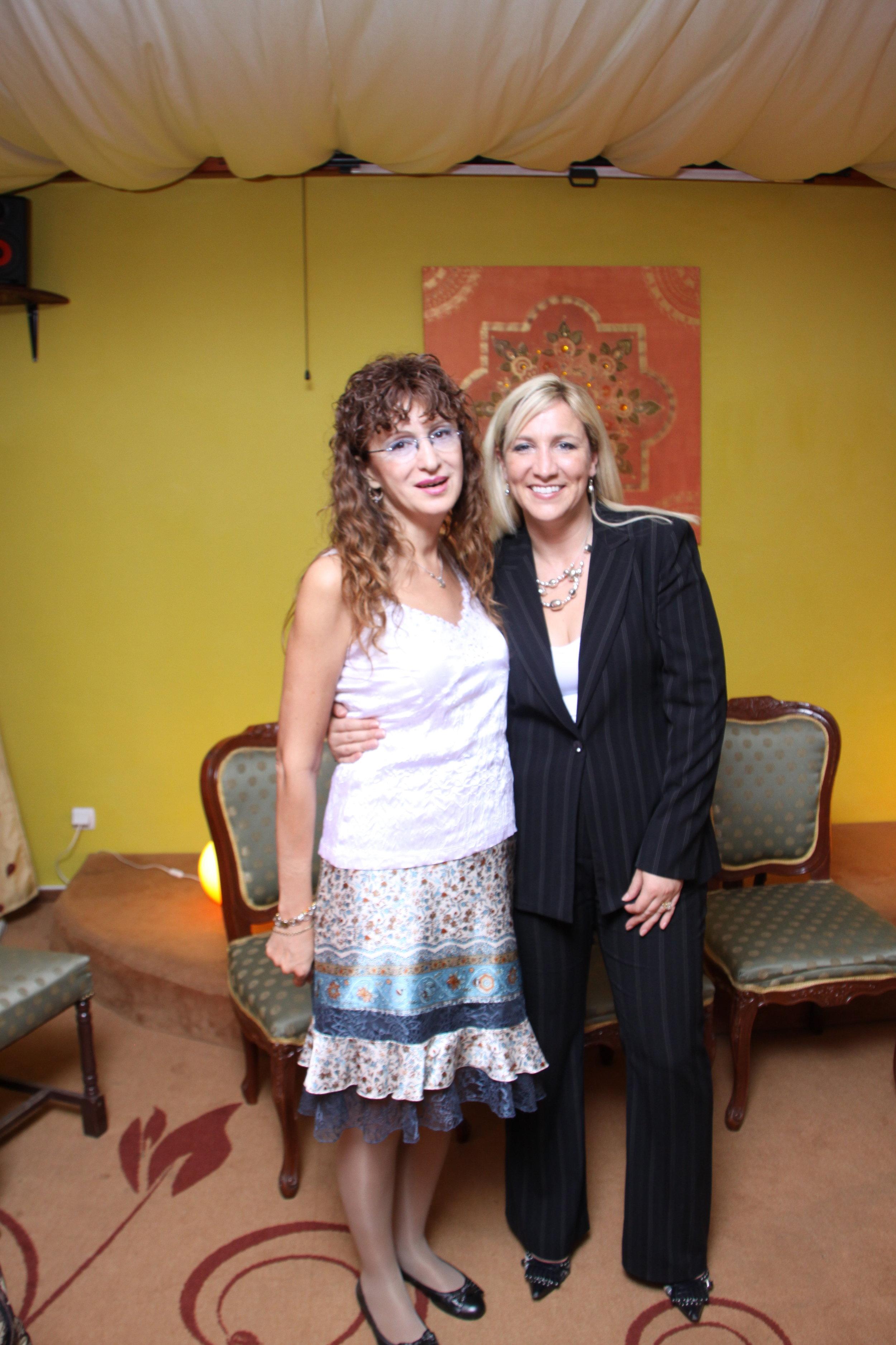Tara and Magdalena Badi after a talk in Romania